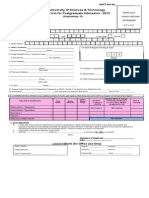 Admission Form for Postgraduate-2k13 SCEE