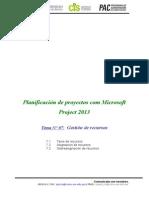 Gestión de recursos en Project