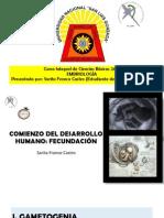 Clase 2 - Embriologia - Fecundacion