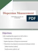 Dispersion Measurement