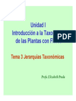 Taxonomia, Unidad I.3