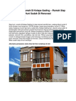Iklan Dijual Rumah Di Kelapa Gading – Rumah Siap Huni Sudah Di Renovasi - www.clububuntu.com