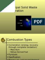 Incineration solid waste