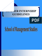 Summer Internship Guidelines