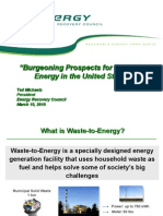Prospects for Waste to Energy