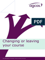 Changing or Leaving Your Course