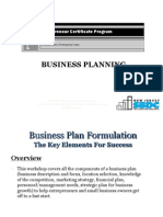 Businessplan Part One