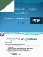Evaluación de Riesgos Específicos 2010.ppt