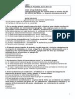 Examen UNED - B - Psicología 2014