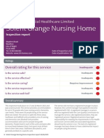 Solent Grange Nursing Home CQC Report