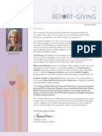 Asante - 2009 Report on Giving