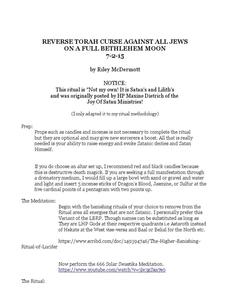 Reverse Torah Curse on the Jews On a Bethlehem Moon    Religious