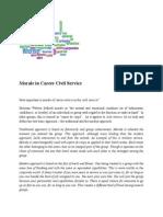 Morale in Career Civil