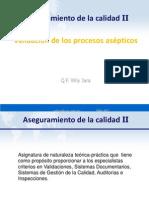Dr. Wily Jara Clase 1 Validación de Los Procesos Asépticos[1]