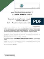Modificación IRAM 11507-4 - Carpinteria de Obra y Fachadas Integrales Livianas