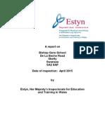 Bishop Gore School Estyn Report 2015