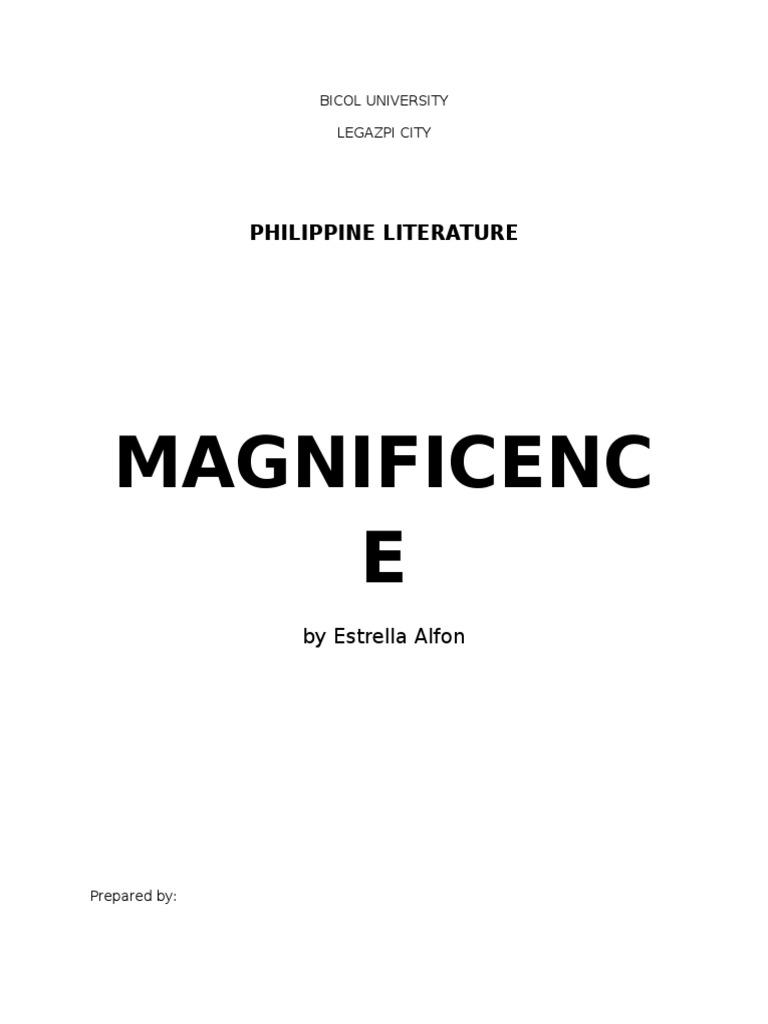 magnificence by estrella alfon Magnificence - estrella alfon - free download as pdf file (pdf), text file (txt) or read online for free.