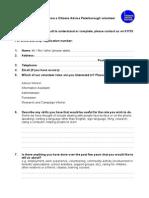Citizens Advice Peterborough Volunteer Information Assistant Role application form