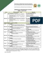 VII PIFEG - Programación Conferencias Junio 2015 - J. Ruiz
