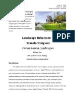 Ryan Harb Landscape Urbanism