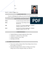 Resume Format Without Photo