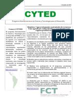 Boletín Cyted Nº22 2015 Web