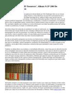 """F. Ibanez Publica """"El Tesorero"""", Album N.º 200 De Mortadelo Y Filemon"""