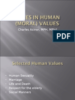 Issues in Human (Moral) Values