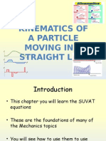 M1 Kinematics of a Particle Moving in a Straight Line