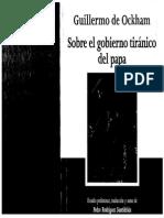 Guillermo de Ockham Sobre El Gobierno Tiranico Del Papa