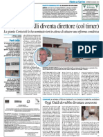 ERSU, Brincivalli diventa Direttore (col timer) - Il Resto del Carlino del 30 giugno 2015