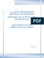 Research Award Directive 2015