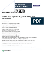 Senate Banking Panel Approves Shelby Reg Reform Bill _ American Banker
