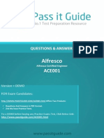 Official Alfresco Certifications ACE001 Exam Instructions 2015