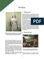 Artículo Sobre el mito de Perséfone