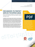 Mechanisms to Protect Data in the Open Cloud