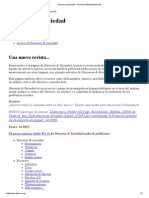 Discurso & Sociedad - Revista Multidisciplinaria De