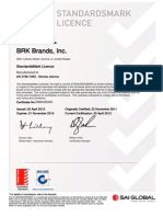 SAI Global StandardsMark Licence - First Alert SA340AUS