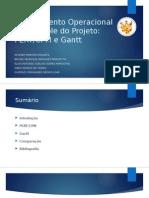 Planejamento Operacional de Controle Do Projeto