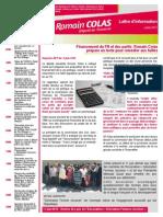 Newsletter de Romain Colas Juillet 2015