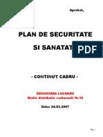 Plan de Securitate Si Sanatate