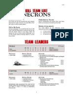 Kill Team List - Necrons v3.0