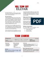 Kill Team List - Eldar v3.0a