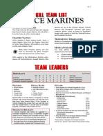 Kill Team List - Space Marines v3.2 (1)