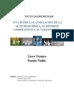 Proyecto Tkd Escolar Liceo Técnico Puente Ñuble