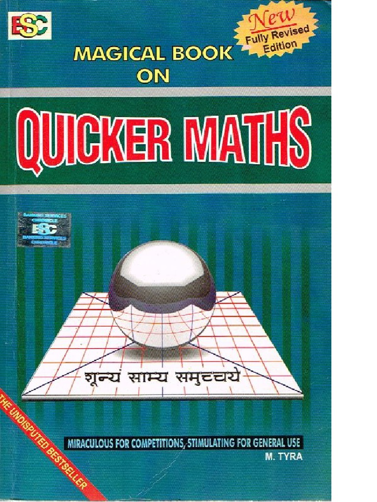 Magical Book On Quicker Maths M Tyra