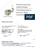 Machine learning system design