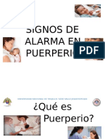 Signos de Alarma en Puerperio Rotafolio