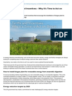 Plant Life Tariffs and Incentives - Why Its Time to Act on Biogas