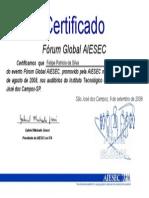 Certificado AIESEC